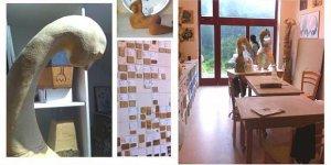 Návštěva v sochařském ateliéru Magdy Jochcové