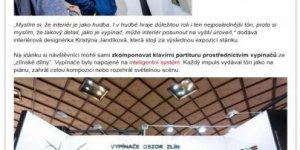 Článek o mé letošní výstavě na Designbloku pro českého výrobce vypínačů OBZOR
